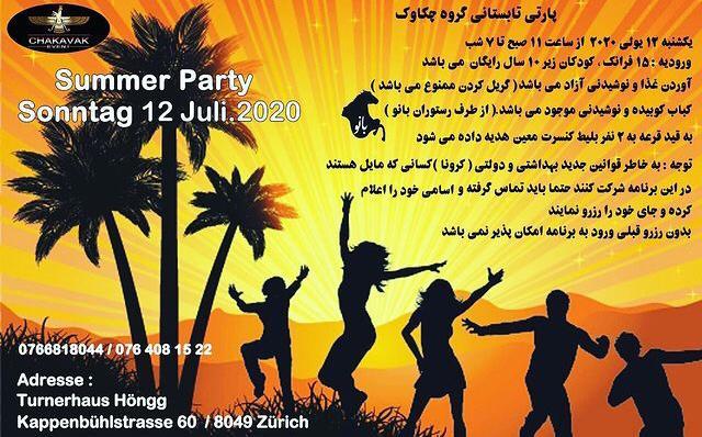 Summerparty Chakavak -12.07.2020 Zürich